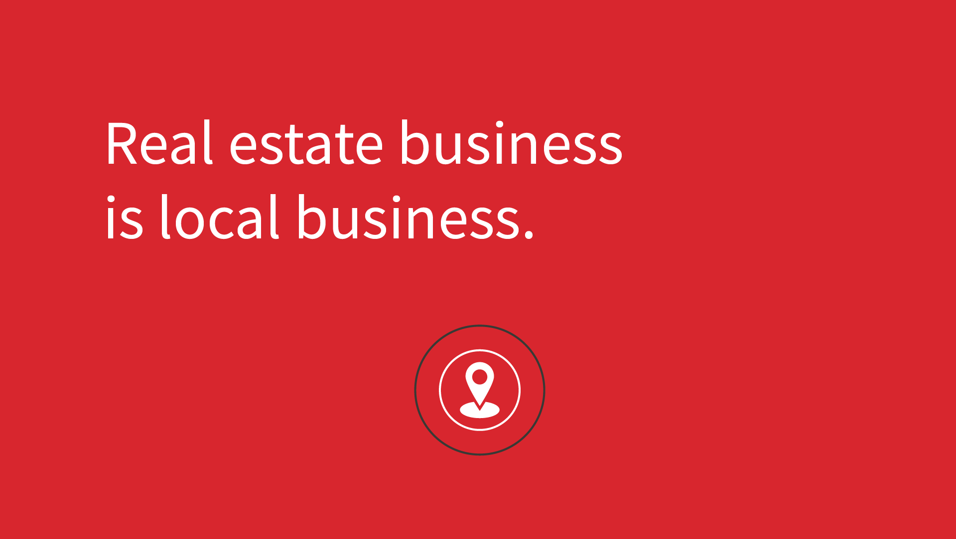 Gillitzer - real estate business is loacal business